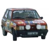 TALBOT Samba Rally MonteCarlo'84 #165, 67th, F.Delecour / C.Pauwels
