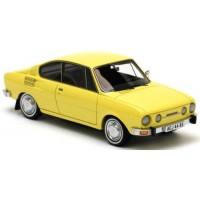SKODA 110R, 1974, jaune