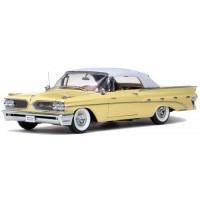 PONTIAC Bonneville Convertible closed, 1959, white/palomar yellow
