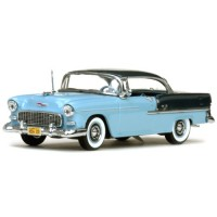 CHEVROLET Bel Air Hardtop, 1955, glacier blue/skyline blue