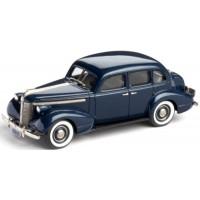 PONTIAC Deluxe Six 4-door Touring Sedan, 1937, starlight blue poly