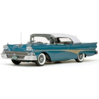 FORD Fairlane 500 Convertible closed, 1958, white/silverstone blue