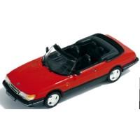 SAAB 900 Cabriolet, 1991, red