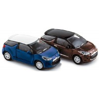 CITROËN DS3, 2010, blue/white or brown/black