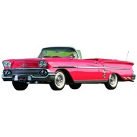 CHEVROLET Impala Convertible, 1958, red