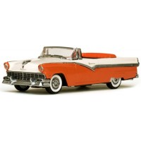 FORD Fairlane Convertible open, 1956, orange/white