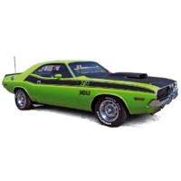 DODGE Challenger T/A, 1970, green/black