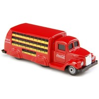Coca-Cola 3-Axle Bottle Truck, red