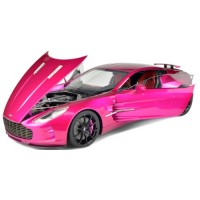 ASTON MARTIN One 77, transparent purple (resin with openable parts)