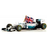 MERCEDES F1 W05 GP AbuDhabi'14 #44, winner L.Hamilton