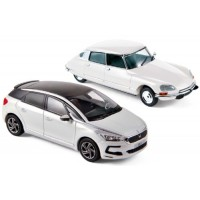 SET CITROËN DS 23 Pallas, white 1973 & DS5, 2015, white