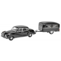 BMW 502 with funeral trailer