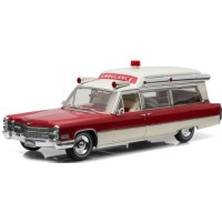 CADILLAC S&S 48 High Top Ambulance, 1966, red/white
