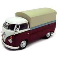 VOLKSWAGEN T1 Pick-up with tarpaulin, d.red/white