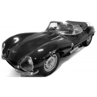 JAGUAR XK SS with luggage, 1957, silver