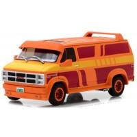 GMC Vandura Custom, 1983, orange with custom graphics