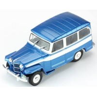 WILLYS Jeep Station Wagon, 1960, met.blue/white