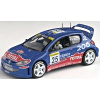 PEUGEOT 206 WRC Rally MonteCarlo'02 #25, Rovanpera / Pietilainen