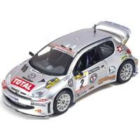 PEUGEOT 206 WRC Rally Italia'02 #2, winner Travaglia