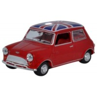AUSTIN Mini, tartan red/ubion jack