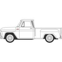 CHEVROLET Stepside Pick-up, 1965, white
