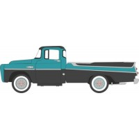 DODGE D100 Sweptside Pick-up, 1957, turquoise/jewel black