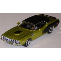 PLYMOUTH Barracuda, 1971, green/black roof