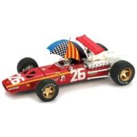 FERRARI 312 F1 GP France'68 #26, winner J.Ickx (including driver & umbrella)