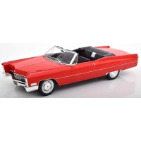 CADILLAC DeVille Convertible, 1968, red