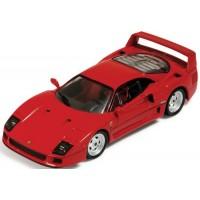 FERRARI F40, 1988, red