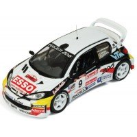 PEUGEOT 206 WRC Rally Ypres'00 #9, P.Snijers / E.VanDenPluym