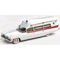 CADILLAC Guardian Ambulance, 1960, white/red