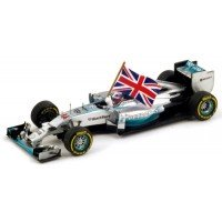 MERCEDES-BENZ F1 W05 Hybrid GP AbuDhabi'14 #44, winner L.Hamilton (with flag)