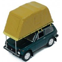 LADA Niva with roof tent, 1981, green