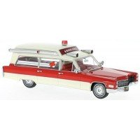 CADILLAC S&S Ambulance, 1966, red/white (limited)