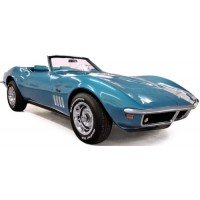CHEVROLET Corvette Convertible, 1969, met.blue